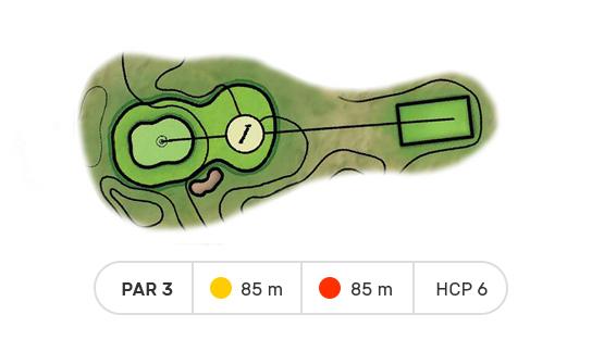 trou numero 1 golf de louvigny