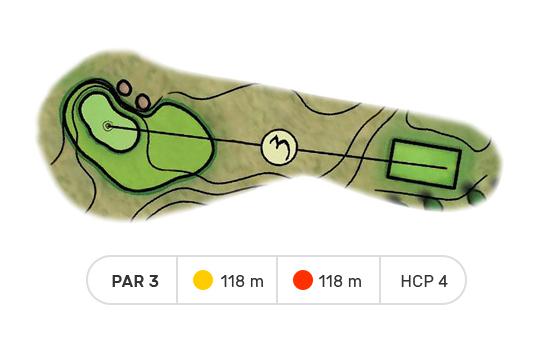 trou numero 3 golf de louvigny