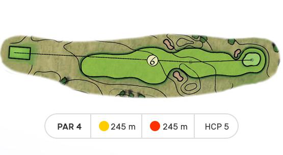 trou numero 6 golf de louvigny